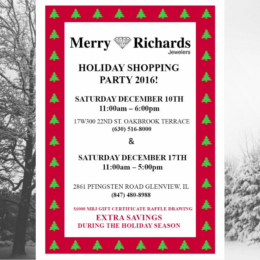 Chicago area merry richards jewelers to throw two day for 17 w 350 22nd street oakbrook terrace il 60181